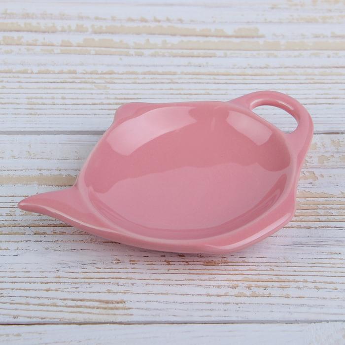 """Подставка под чайный пакетик """"Весна"""", цвет розовый"""