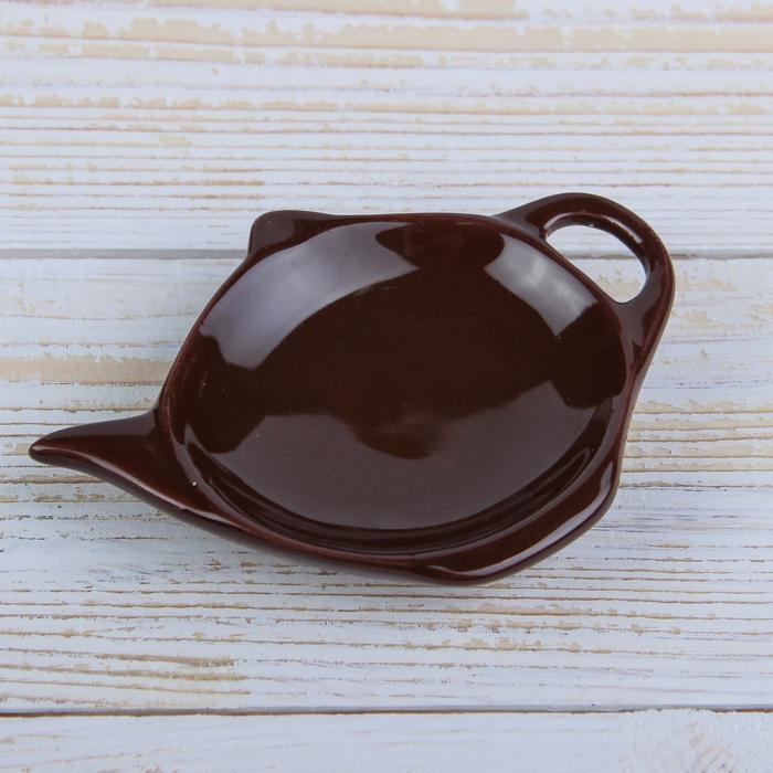 """Подставка под чайный пакетик """"Весна"""", цвет коричневый"""