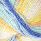 """Пряжа """"Sekerim  batik"""" 100% акрил 320м/100гр (6539 желтый-голубой-бирюзовый)"""