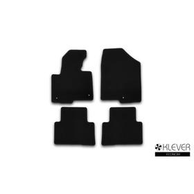 Коврики в салон Klever Econom Hyundai Santa Fe АКПП 2012-2016, кросс., 4 шт. (текстиль)