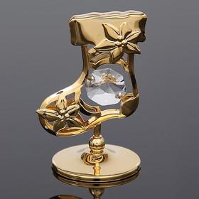 Сувенир «Сапожок», 3×3.5×5.5 см, с кристаллами Сваровски