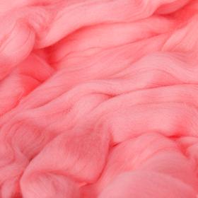 Гребенная лента 100% тонкая мериносовая шерсть 100гр (0160, розовый)