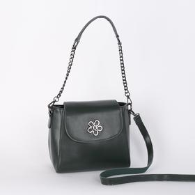 Bag, Department, partition with zip, outer pocket, long strap, green