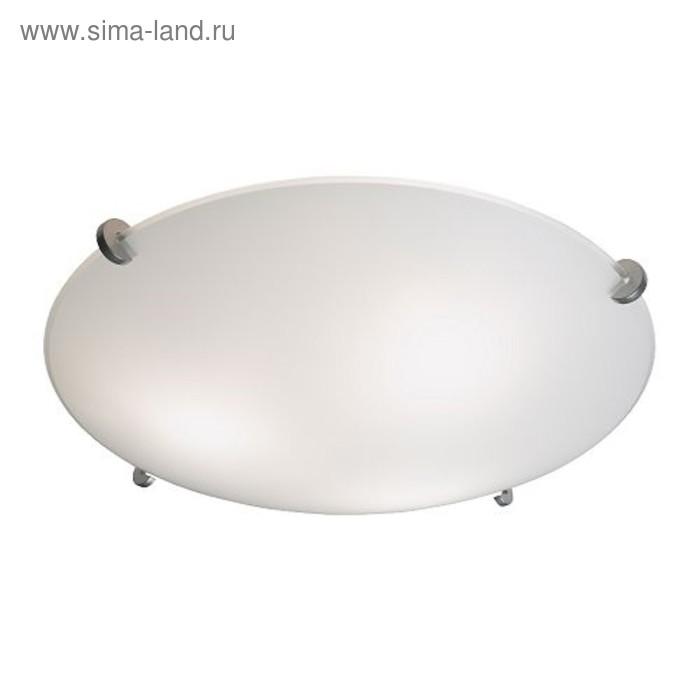 Светильник настенно потолочный ЭРБИУМ 3x40Вт Е14 хром 46x46x15см