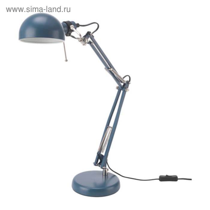 Настольная лампа ФОРСО 1x40Вт Е14 синий 15x15x35см