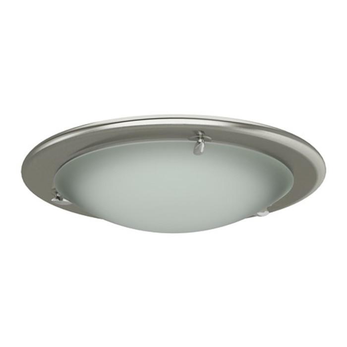 Светильник настенно потолочный ПУЛЬТ 1x60Вт Е27 никель 31x31x8см
