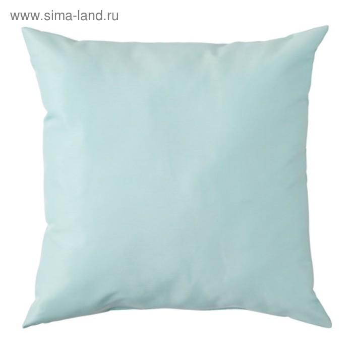 Подушка декоративная КРОНЭРТ, размер 40х40 см, цвет голубой
