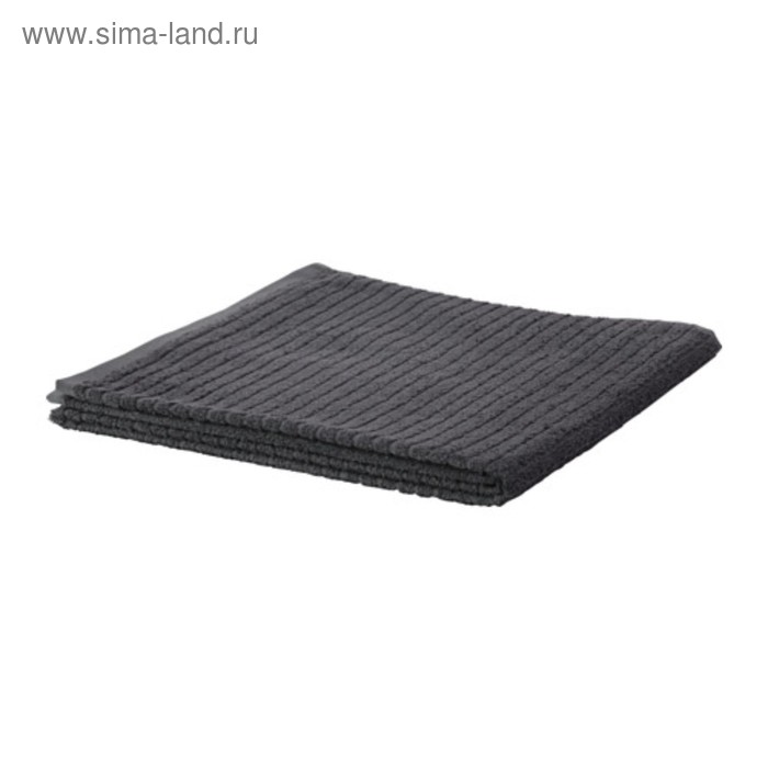 Полотенце махровое ВОГШЁН, размер 70х140 см, цвет тёмно-серый, 390 г/м2