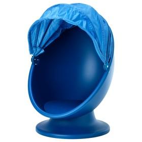 Вращающееся кресло ИКЕА ПС ЛЁМСК, синий, голубой
