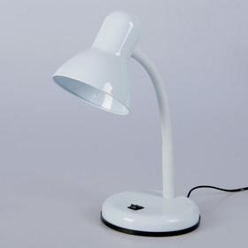 """Настольная лампа """"Design"""" 1x60W E27 белая 14x14x33см"""