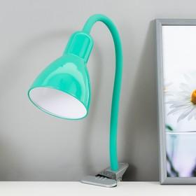 """Настольная лампа """"Design"""" 1x60W E27 зеленая (прищепка) 10,5x10,5x54см"""