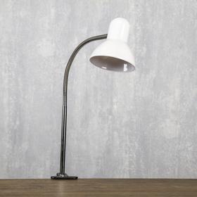 Настольная лампа 1x60W E27 белая (на прищепке) 11x9x70см