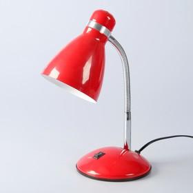 """Настольная лампа """"Элегия"""" 1x60W E27 красная 14,5x14,5x41см"""