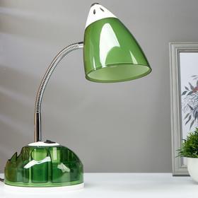 Настольная лампа 1x60W E27 зеленая  16,5x16,5x51см