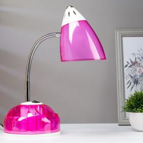 Настольная лампа 1x60W E27 розовая  16,5x16,5x51см