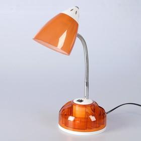 Настольная лампа 1x60W E27 оранжевая  16,5x16,5x51см