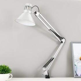 Настольная лампа 1x60W E27 серебро (на струбцине) 17x17x81см