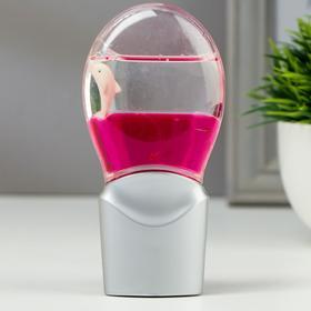 """Ночник """"Кроха"""" 0,3W (датчик освещенности) LED серебро/розовый"""