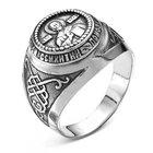 """Кольцо посеребрение с оксидированием """"Перстень"""" спаси и сохрани, 22 размер"""