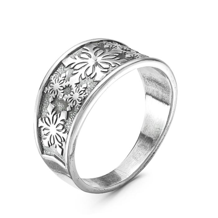 Кольцо ''Снежинки'', посеребрение с оксидированием, 20 р-р 2889416