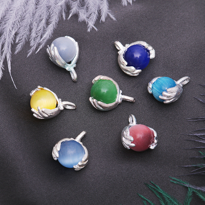 """Pendant """"Cat's eye"""" ball in hand, MIX color"""
