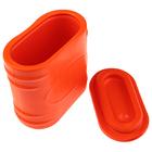 Мотыльница ЭВА  0,45 л.  с крышкой, цвет оранжевый