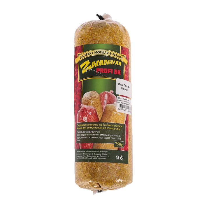 Прикормка Zамануха «колбаса», зима, лещ-плотва ваниль, вес 750 гр.