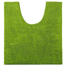 Коврик шенилл Logstor, 55 x 55 см, ворс 1 см, зелёный