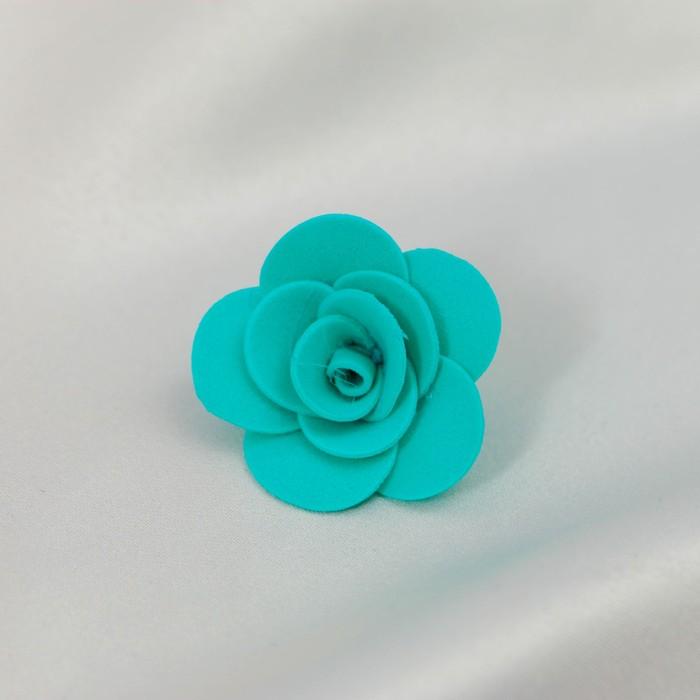 Бант-цветок свадебный для  декора  из фоамирана ручной работы диаметр 3 см (10 шт) бирюзовый