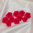 Бант-цветок свадебный для  декора  из фоамирана ручной работы диаметр 3 см (10 шт) красный