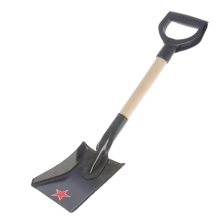 """Лопата стальная, деревянный черенок с ручкой, """"АвтоЛидер №6"""""""