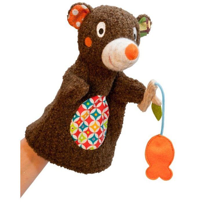 """Игрушка на руку Ebulobo """"Мишка на рыбалке"""""""