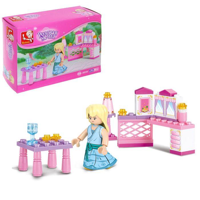 Конструктор «Розовая мечта: принцесса», 35 деталей
