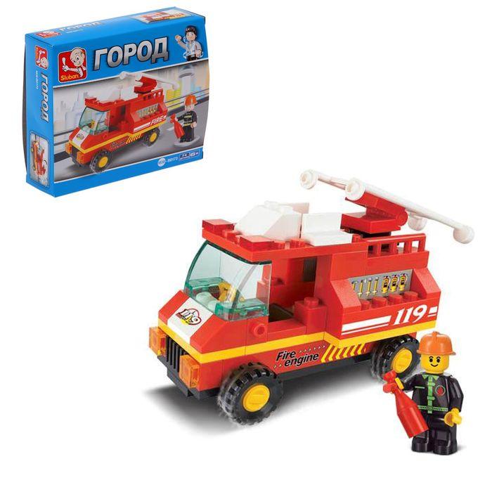 Конструктор «Пожарная машина», 74 детали - фото 106525410