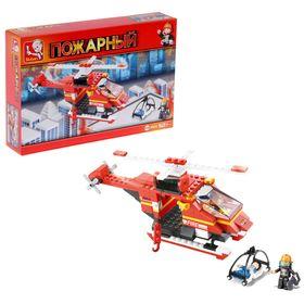 Конструктор «Пожарный вертолёт», 155 деталей