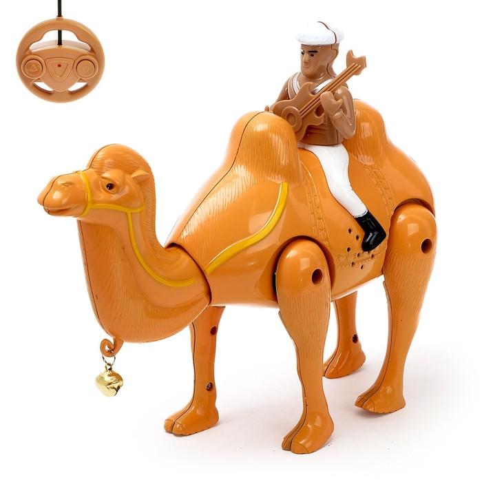 """Верблюд радиоуправляемый """"Король пустыни"""", работает от батареек, свет и звук"""
