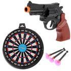 Пистолет «Сержант», с мишенью, стреляет присосками, МИКС - фото 105639295