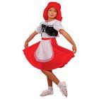 """Карнавальный костюм """"Красная Шапочка"""", блузка, юбка, шапка, р. 34, рост 134 см"""