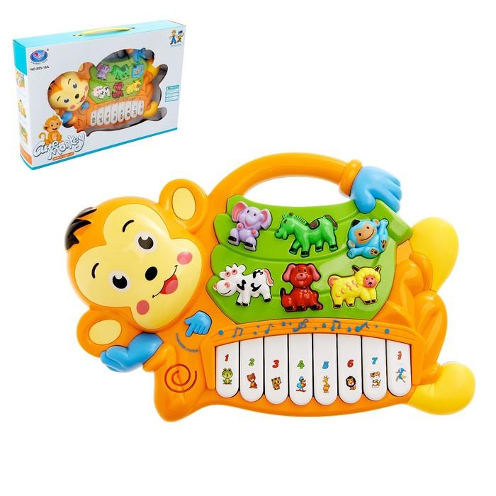 Музыкальная игрушка-ионика «Обезьянка», световые и звуковые эффекты, МИКС