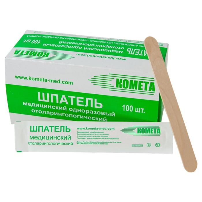 Шпатель медицинский одноразовый деревянный стер.
