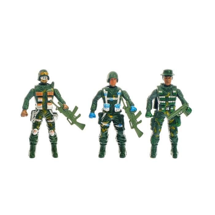 """Набор солдатиков """"Спецназ"""", 3 шт."""