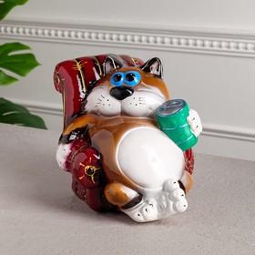 """Копилка """"Кот в кресле"""", покрытие лак, разноцветная, 20 см, микс"""