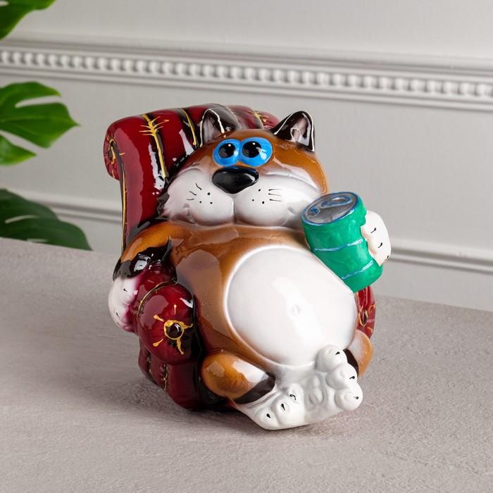 """Копилка """"Кот в кресле"""", разноцветная, глянец, 20 см, микс"""