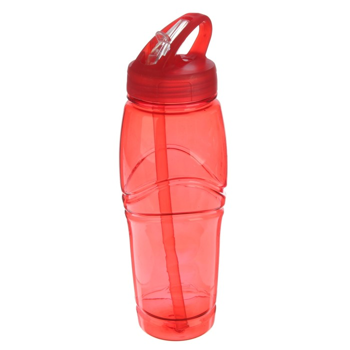 "Фляжка-бутылка для воды ""Ромбики"", 700 мл, красная, 6х7х25 см"