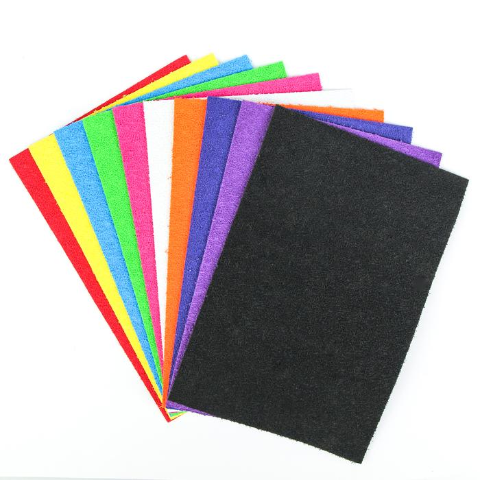 Набор «Пенка травка», формат А4, 10 листов, 10 цветов, толщина 2 мм - фото 797880524