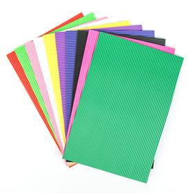 Набор пенка гофрированная, формат А4, 10 листов, 10 цветов, толщина 2 мм