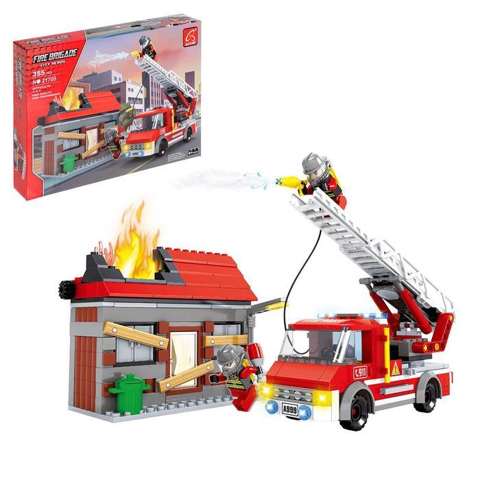 Конструктор Пожарная команда «Огнеборцы», 355 деталей