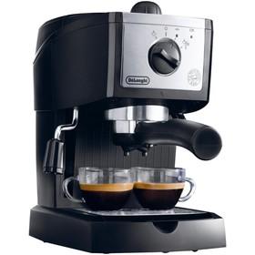 Кофеварка De Longhi EC 156 B, рожковая, 1100 Вт, 1 л, серебристо-чёрная