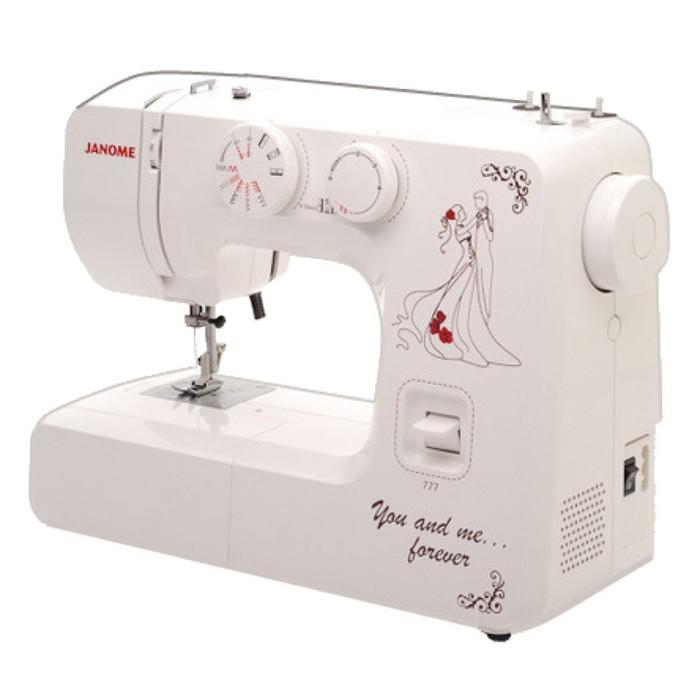 Швейная машина Janome 777, 16 операций, обметочная, потайная, эластичная строчка
