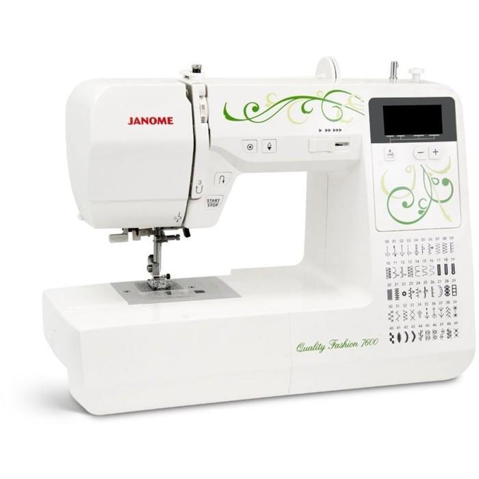 Швейная машина Janome QF 7600, 50 операций, компьютеризированная